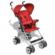 vidaXL Wózek spacerowy dla dziecka czerwony