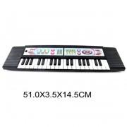 Синтезатор муз. 37 клавиш, 2 режима работы, черный, батарейки в комплект не входят, пакет BL646