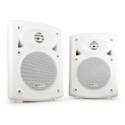QTX Pareja de altavoces de pared QR5W activo pasivo blanco (178.201UK)