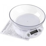 MOHAK 7KG 1G Electronic Kitchen Scales Portable LCD Digital Food Diet Scale Balance Weight Tool With Bowl Weighing Scale(White)