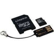 Комплект Kingston, 32GB, Class 10, microSD + SD адаптер + USB четец, Android, MBLY10G2/32GB