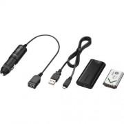 Sony ACC-DCBX - Batterie et chargeur 1 x Li-Ion 1240 mAh - sur le câble : Micro-USB - pour Action Cam-FDR-X1000, HDR-AS10, AS200, AS30, AS50; Cyber-shot DSC-WX500; Handycam HDR-MV1