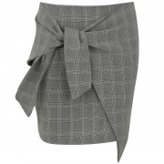 ComeGetFashion Skirt Tied 'n Checked Mini - Rokken
