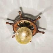 Timone ceiling light, spherical glass amber
