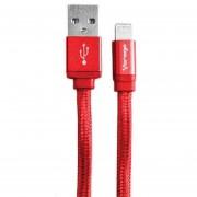 Cable Vorago Lightning A USB, 1m. Color ROJO