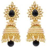 Jewels Gold Enameled Pearls Beads Contemporary Fashion Designer Jhumka Jhumki Earring Set For Women Girls
