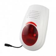 Sirena compatta wireless per esterno con lampeggiante lb-w03
