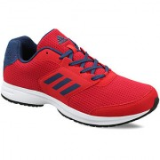 Adidas MensRed Lace-up Running Shoes