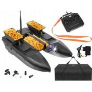 ISO 9774 Zakrmovací zavážecí rybářská loď Katamaran 50 cm s nosností až 2000g černá