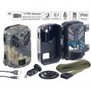 VisorTech Full-HD-Wildkamera mit Bewegungssensor, Nachtsicht, Farb-Display, IP66
