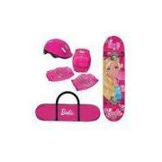 Skate Barbie Com Kit De Segurança 7619-1 Fun