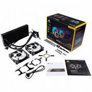 Corsair Hydro Series H115i RGB PLATINUM Liquid CPU Cooler, an all-in-one liquid CPU cooler with a 280mm radiator and vivid RGB lighting that's built for extreme CPU cooling. Cooling Socket Support Int CW-9060038-WW