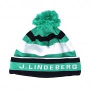 J.Lindeberg Mössa Stripe Golf Green/Blue Beanie - J.Lindeberg