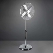 Ystadt pedestal fan, chrome, with timer