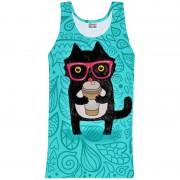 Mr. Gugu & Miss Go Coffee Cat Tank Top T Shirt TT842