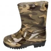 Apollo Groene peuter/kinder regenlaarzen camouflage/leger print 23 - Regenlaarzen