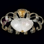 Vetrilamp Ca' D'Oro Elegante Plafoniera In Vetro Di Murano Dorato D.55