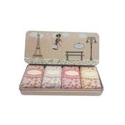 Coffret caixa de metal rosa 4 sabonetes anne de péraudel - Klorane