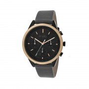Simplify The 3800 Leather-Band Watch w/ Day/Date - Rose Gold/Charcoal SIM3807