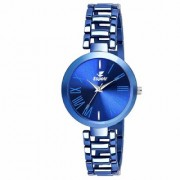 Espoir Analog Stainless Steel Blue Dial Girl's and Women's Watch - FullBlueManisha