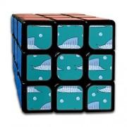 JUNJIEshop Custom 3x3 Puzzle Cube 3x3 Los Mejores Juguetes de Entrenamiento Cerebral 3x3x3 Submarino Biológico Agua Swordfish Speed Cube Puzzle Juego de Fiesta para niños niñas niños pequeños-55 mm