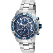 Invicta Blue23874 Invicta Men's 'Pro Diver' Quartz Stainless Steel Casual Watch, Color:Silver-Toned (Model: 22413) Hybrid Watch - For Men