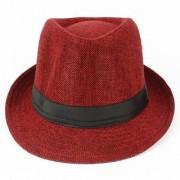 Tahiro Red Cotton Fedora Hat - Pack Of 1