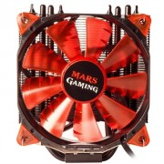 Cooler MARS GAMING 150W, 12cm ULTRASILENT PWM RED LIGHT LED FAN, Black - MCPU3+