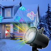 Phenom prenosný party LED projektor na dom s 4x motívmi