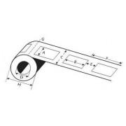ATB 6326 étiquettes adhésives diamètre 80 en rouleaux de 4800