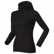 Odlo - Women's Shirt L/S With Facemask Warm - Sous-vêtement synthétique taille S, noir