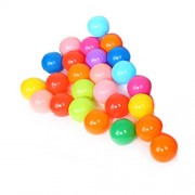 Pit Balls, Pack of 25/50/100 pcs Colorful Ball Soft Plastic Ocean Ball Funny Baby Kid Swim Pit Toy (100pcs)