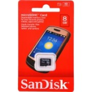 SanDisk 1 8 GB MicroSDHC Class 4 80 MB/s Memory Card