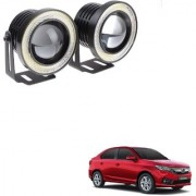 Auto Addict 3.5 High Power Led Projector Fog Light Cob with White Angel Eye Ring 15W Set of 2For Honda Amaze New2018