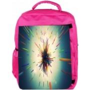 Snoogg Eco Friendly Canvas Abstract Amazed Design Designer Backpack Rucksack School Travel Unisex Casual Canvas Bag Bookbag Satchel 5 L Backpack(Pink)