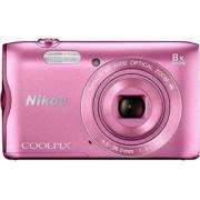 Digitalni foto-aparat Nikon A300 f.a.Pink SET (futrola Vail 10 crna)