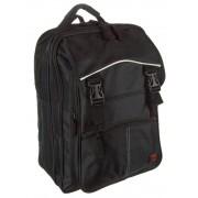 2+2 részes fekete vászon hátizsák Adventurer