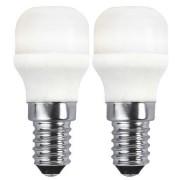 Star Trading LED päronlampa 2-pack 1,7W 136lm 2700K E14