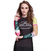 Bañadores Mujer Camisetas Surf Traje De Baño Manga Larga Digital01