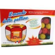 Spatiu de joaca cort cu 70 bile multicolore Globo pentru copii