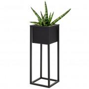 Kwietnik metalowy czarny DONICZKA stojak podstawa osłonka 60 cm