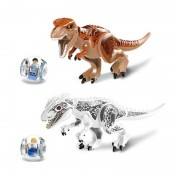 Lot De 2 Dinosaures Indominus Et T-Rex Jurassic World