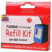 turbo ink refill kit for HP 680 color cartridge