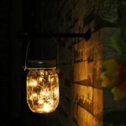 LED Solcellslampa Glasburk