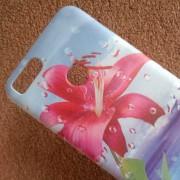 Калъф за Xiaomi Mi A1 силиконов гръб червено цвете