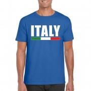 Bellatio Decorations Blauw Italie supporter shirt heren 2XL - Feestshirts