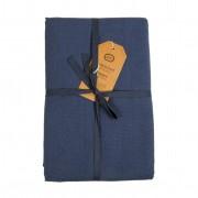 Dille&Kamille Nappe, coton, bleu denim, 145 x 300 cm