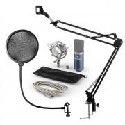 Auna MIC-900BL USB, микрофонен комплект V4, кондензаторен микрофон, pop filter, стойка за микрофон, син цвя (60001958-V4)
