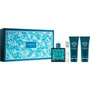 Versace Eros coffret VIII. Eau de Toilette 100 ml + Eau de Toilette 10 ml + gel de duche 100 ml + bálsamo after shave 100 ml