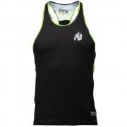 Gorilla Wear Sacramento Camo Mesh Tank Top - Black/Neon Lime - L